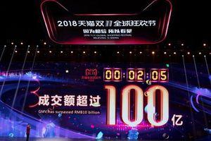 Ngày Lễ Độc thân ở Trung Quốc: Doanh thu bán hàng vượt 1 tỷ USD trong chưa đầy 1 phút rưỡi