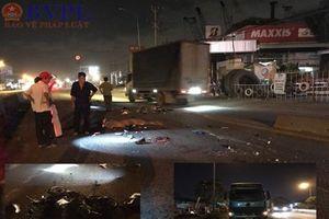 Chạy vào làn ô tô, một người bị xe container cán chết