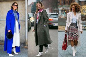 Combo thời trang 'áo khoác và boots trắng' mặc sao cho 'chất'? Hãy tham khảo những gợi dưới đây!