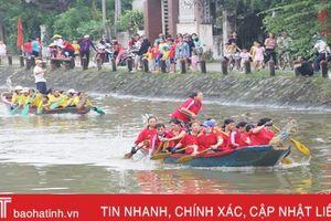 Đua thuyền trên sông Cụt mừng ngày đại đoàn kết toàn dân