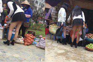 Kẻ bệnh hoạn bám theo chụp ảnh dưới váy chân dài ở Sa Pa
