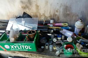 Cận cảnh 'xưởng' sản xuất súng, mã tấu tự chế ở Vĩnh Long