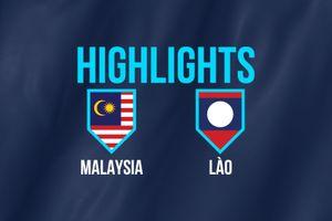 Highlights AFF Cup: ĐT Malaysia 3-1 ĐT Lào