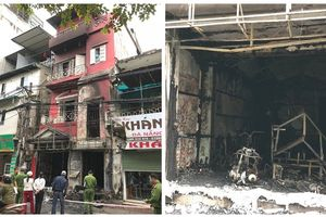 Hà Nội: 2 người bị thương trong vụ cháy trên phố Đặng Tiến Đông