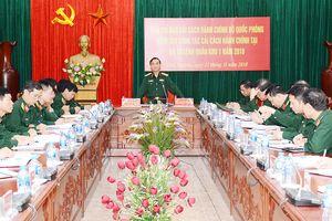 Đoàn công tác Bộ Quốc phòng kiểm tra công tác cải cách hành chính tại Quân khu 1
