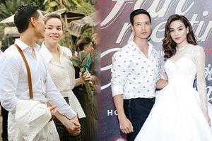 Phong cách thời trang chất lừ của Kim Lý khi sánh bên Hà Hồ