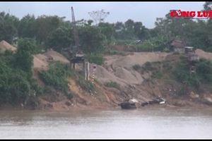 Huyện Thanh Chương (Nghệ An): Cát tặc vô tư đục khoét sông Lam khiến người dân bức xúc