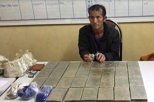 Sơn La: Bắt 1 đối tượng vận chuyển 30 bánh heroin ở Lóng Luông