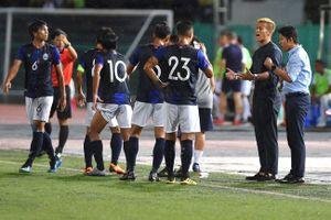 Có sự hiện diện của HLV Keisuke Honda, tuyển Campuchia vẫn thua đậm đối phương