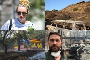 Miley Cyrus, Gerard Butler và nhiều sao Hollywood bị mất nhà triệu đô vì cháy rừng