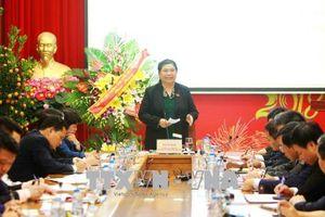 Kiểm tra thực hiện Nghị quyết Trung ương 4 Khóa XII tại Ban cán sự Đảng Ủy ban Dân tộc