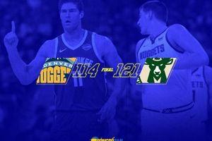Brook Lopez 'hóa' Stephen Curry, Denver Nuggets gục ngã trước Bucks