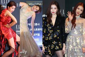 Thảm đỏ 'hot' tối nay: Sunmi khó xử khi chạm mặt 'bản sao' Risabae, Jang Do Yeon gặp đối thủ nặng ký
