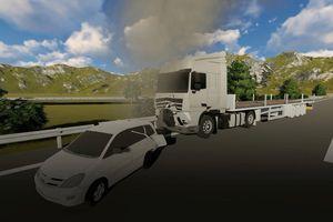 Phải làm rõ tốc độ lùi của chiếc Innova bị xe đầu kéo container tông