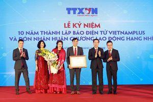 Báo Điện tử VietnamPlus đón nhận Huân chương Lao động hạng Nhì