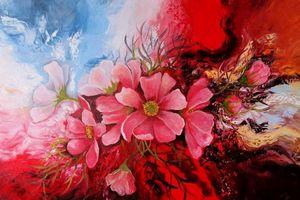 Khám phá thế giới ngàn hoa trong tranh của họa sĩ Đinh Thanh Vân