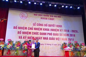 Bổ nhiệm PGS.TS Nguyễn Thị Quế Anh giữ chức chủ nhiệm khoa Luật