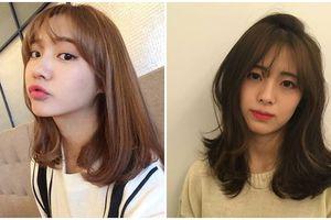 Mùa đông về, diện tóc ngang vai làm xoăn bồng bềnh cho nàng rạng rỡ, xinh tươi như mỹ nhân Hàn Quốc