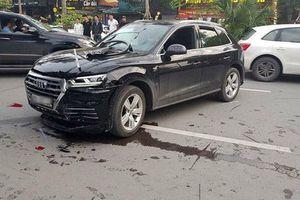 Xe sang Audi Q5 mất lái gây tai nạn liên hoàn