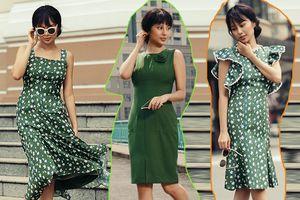 Những chiếc váy làm thỏa cơn khát thời trang màu xanh lá cho mọi cô gái