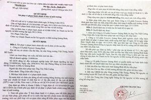 Công ty CP Fococev Quảng Bình bị phạt 66 triệu đồng do xả thải vượt quy chuẩn