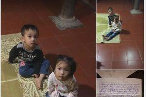 Hai chị em bị bỏ rơi trong chùa, người mẹ để lại tâm thư nhờ nuôi hộ