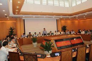 Đoàn công tác Ban chỉ đạo Trung ương về phòng chống tham nhũng làm việc với Thành ủy Hà Nội