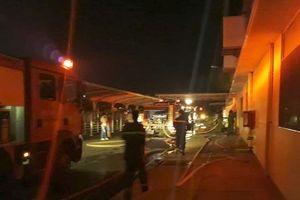 Cháy lớn tại xưởng may ở khu công nghiệp Tân Hương
