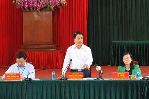 Chủ tịch Nguyễn Đức Chung làm việc với huyện Thanh Oai