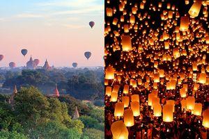 4 lễ hội náo nhiệt sắp diễn ra ở Đông Nam Á, chờ đợi nhất là lễ hội thả đèn trời ở Thái Lan