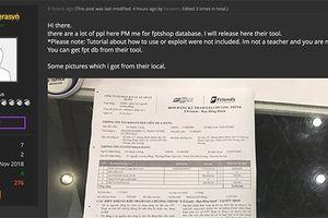 Sau Thế giới di động, hacker lại tung cơ sở dữ liệu của FPT Shop