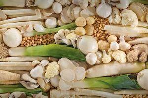 Lợi ích tuyệt vời của các loại rau củ quả màu trắng và nâu