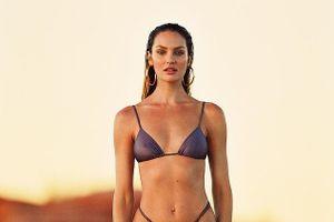 'Thiên thần' Candice Swanepoel gợi cảm với bikini sau 5 tháng sinh con