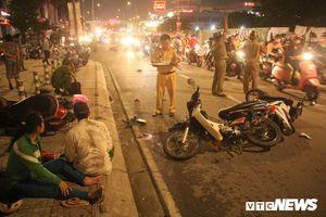 Hiện trường ô tô 'điên' tông 4 xe máy, nhiều người thương vong ở TP.HCM