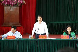 Chủ tịch UBND TP Hà Nội Nguyễn Đức Chung làm việc tại huyện Thanh Oai