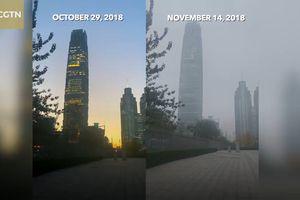 Trung Quốc 'tắm' trong khói bụi ô nhiễm ở các thành phố lớn