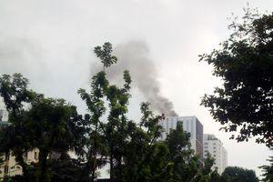 Hà Nội: Cháy tại tòa nhà Trung tâm Lưu ký Chứng khoán Việt Nam