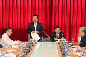 Trưởng Ban Tuyên giáo Trung ương làm việc với Bộ Biên tập Tạp chí Cộng sản