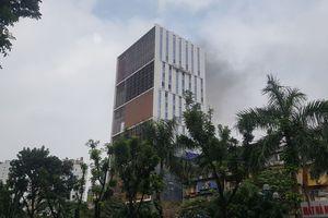 Hà Nội: Kịp thời khống chế đám cháy tại tòa nhà trên đường Hoàng Quốc Việt