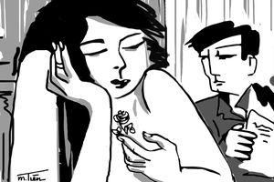 Bông hồng trên ngực
