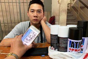 Bắt quả tang du khách Đài Loan vẽ bậy tại TP.HCM