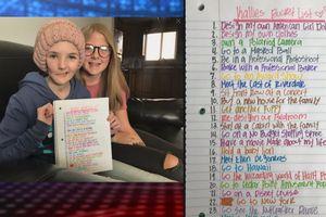 Cảm động với danh sách những việc cần làm của cô bé bị ung thư