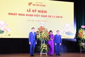 Học viện Tư pháp tổ chức Lễ kỷ niệm chào mừng Ngày Nhà giáo Việt Nam 20/11