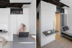 Căn hộ chỉ 16 m2 kiêm phòng làm việc với đầy đủ tiện nghi