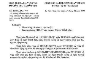 Sở Giáo dục Bà Rịa - Vũng Tàu không tổ chức lễ kỷ niệm 20/11