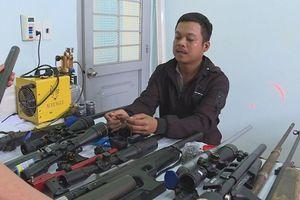 Đắk Lắk: Bắt quả tang một đối tượng chế tạo nhiều súng hơi tại nhà