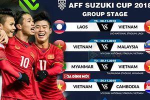 Lịch thi đấu của đội tuyển Việt Nam tại AFF cup 2018 chính xác, đầy đủ nhất