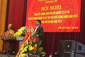 Hà Nội khen thưởng 42 người có uy tín trong đồng bào dân tộc thiểu số