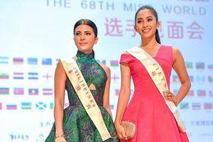Tiểu Vy cùng các thí sinh Hoa hậu Thế giới ra mắt giới truyền thông