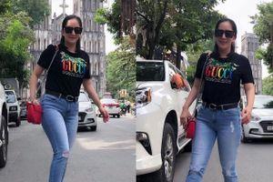 Chuyện showbiz: Khánh Thi một mình dạo phố sau tin đồn mang bầu lần 3